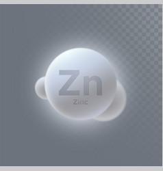 Zinc mineral icon vector