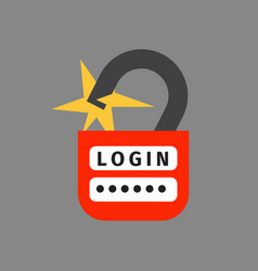 lock icon security protection safety password sign vector image