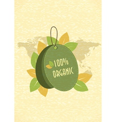 eco friendly shopping tag vector image vector image