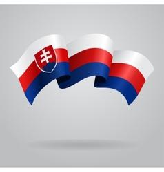 Slovak waving Flag vector image