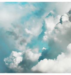 Turquoise clouds vector image vector image