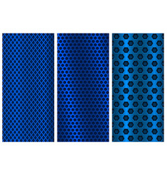 blue metal perforated backgrounds brochure design vector image vector image