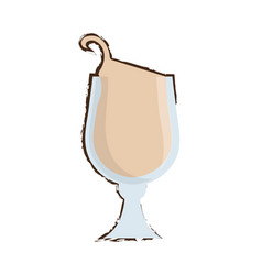 drawing glass coffee drink liquor vector image