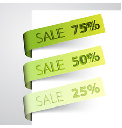 sale tags vector image vector image