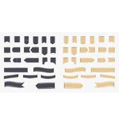 Set of black and brown ribbons vector image