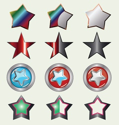 Set Of Rating Stars vector image