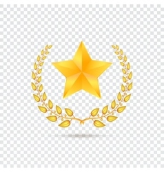 Star on transparent background vector image vector image