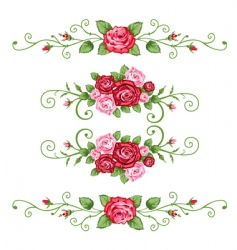 vintage roses vector image vector image