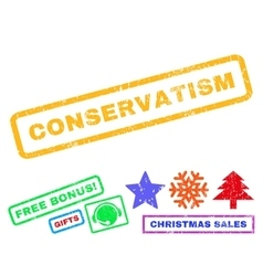 Conservatism Rubber Stamp vector image vector image