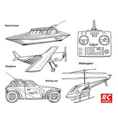rc transport remote control models toys design vector image vector image