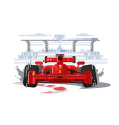 sport car in race vector image vector image