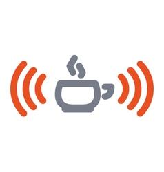 wifi cup icon vector image vector image