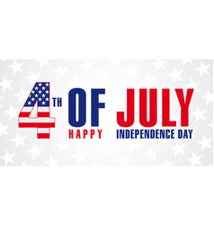 4 july independence day usa vector image