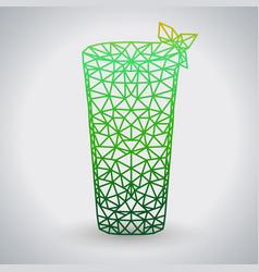 Abstract polygonal tirangle cocktail mojito vector