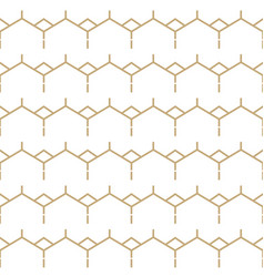 Abstract white and gold seamless lines pattern vector