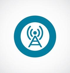 antenna icon bold blue circle border vector image