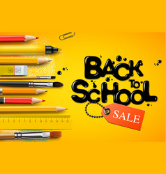 Back to school sale poster and banner vector