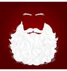 beard santa red background vector image