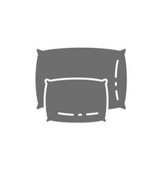 Big and small pillows grey icon vector