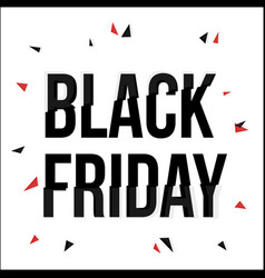 black friday typescript in glitch distorted font vector image