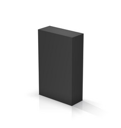 Black rectangular parallelepiped vector