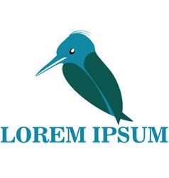 Blue logo bird vector