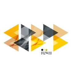 Bright yellow geometric modern design template vector image