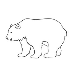 canadian brown bear canada single icon in outline vector image