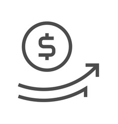 capital increase icon vector image