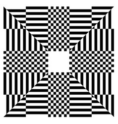 Checkered square shape isolated on white abstract vector