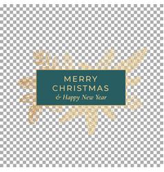 Christmas and new year abstract botanical card vector
