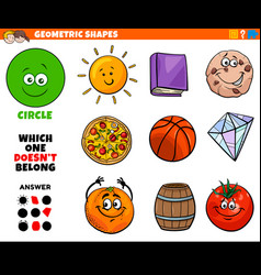 Circle shape educational task for kids vector