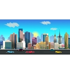 city game background 2d application vector image