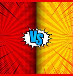 comic vs dynamic concept vector image
