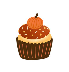 Cupcake flat tasty muffin vector