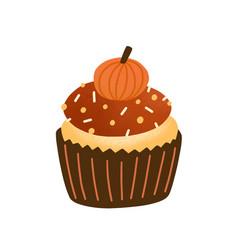 Cupcake flat tasty muffin vector