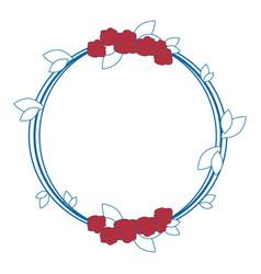 decorative flowers frame vector image
