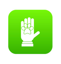 donations for pets icon digital green vector image