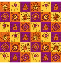 Ethnical african seamless geometric pattern vector image