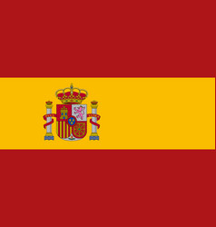 Flag of spain official colors correct proportion vector