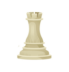 Flat icon of beige chess piece - rook vector