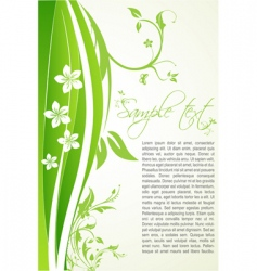 floral background with sample text vector image