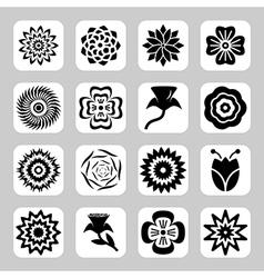 Flowers icon set vector