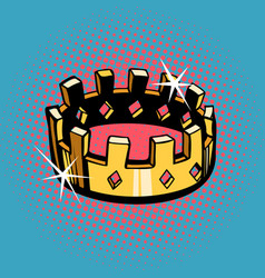 golden crown state power vector image