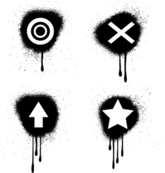 Grunge symbols vector