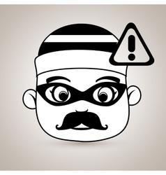 Hacker security warning vector