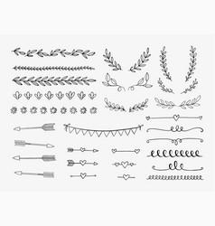 hand drawn design elements vector image