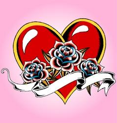 Heart tattoo vector