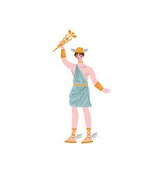 Hermes olympian greek god ancient greece vector