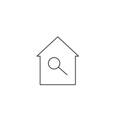 Home search icon vector
